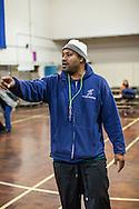 Coach Joe Cokes of Playworks visits the MLA PTSA in Oakland, California.