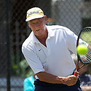 Phillip Arthur Higgs, Australia, in action in the 65 Mens Singles during the 2009 ITF Super-Seniors World Team and Individual Championships at Perth, Western Australia, between 2-15th November, 2009.