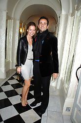 MATTHEW HERMER a director of the Ignite Group which own Boujis and MARISSA ANSHUTZ at a dinner to celebrate the launch of the Dom Ruinart 1998 vinatage champage at Claridge's, Brook Street, London W1 on 23rd April 2008.<br /><br />NON EXCLUSIVE - WORLD RIGHTS