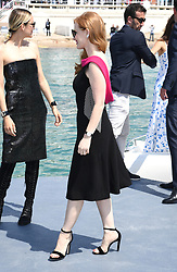 Jessica Chastain attending the 355 Photocall held at The Majesic Pier, part of the 71st Cannes Film Festival. Photo credit should read: Doug Peters/EMPICS