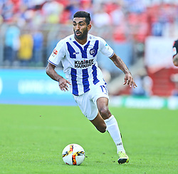 12.09.2015, Wildparkstadion, Karlsruhe, GER, Karlsruher SC vs 1. FC Union Berlin, 6. Runde, im Bild Mohamed Gouaida (Karlsruher SC) mit Ball am Fuss // during the 2nd German Bundesliga 6th round match between Karlsruher SC and 1. FC Union Berlin at the Wildparkstadion in Karlsruhe, Germany on 2015/09/12. EXPA Pictures © 2015, PhotoCredit: EXPA/ Eibner-Pressefoto/ Neis<br /> <br /> *****ATTENTION - OUT of GER*****