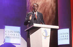 Sep 24, 2009 - New York, New York, USA - Rwandan President PAUL KAGAME at the 2009 Clinton Global Citizen Awards held during  the 5th Annual Meeting of the Clinton Global Initiative at the New York  Sheraton Hotel (Credit Image: ZUMApress.com)