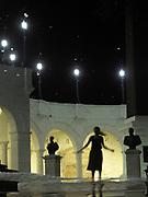 """""""Le pregunté a la luna por su baile con las nubes.<br /> <br /> Sobre su romance con las estrellas.<br /> <br /> Por qué tan bella en tus noches de soledad"""".<br /> <br /> <br /> Descendida / Plaza de Francia, Ciudad de Panamá.<br /> <br /> Edición de 10   Víctor Santamaría."""