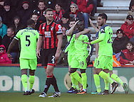 Liverpool's Sadio Mane celebrates scoring his sides opening goal during the Premier League match at the Vitality Stadium, London. Picture date December 4th, 2016 Pic David Klein/Sportimage