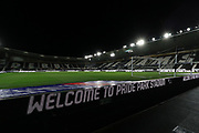 A general view inside Pride Park Stadium during the EFL Sky Bet Championship match between Derby County and Cardiff City at the Pride Park, Derby, England on 28 October 2020.