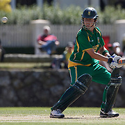 South African batter Cri-Zelda Brits in action  during the South Africa  V New Zealand group A match at Bradman Oval in the ICC Women's World Cup Cricket Tournament, in Bowral, Australia on March 12, 2009. New Zealand won by 199 runs. Photo Tim Clayton