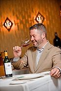 Wine Guy Dan Davis in the dining room of Commander's Palace Restaurant in New Orleans, LA.
