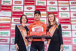 10.07.2019, Radstadt, AUT, Ö-Tour, Österreich Radrundfahrt, Siegerehrung der 4. Etappe, von Radstadt nach Fuscher Törl (103,5 km), im Bild bester Österreicher Riccardo Zoidl (CCC Team, AUT) // best Austrian Riccardo Zoidl (CCC Team, AUT) during the winner ceremony of the 4th stage from Radstadt to Fuscher Törl (103,5 km) of the 2019 Tour of Austria. Radstadt, Austria on 2019/07/10. EXPA Pictures © 2019, PhotoCredit: EXPA/ JFK