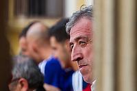 Joseba Asiron, mayor of Pamplona during the celebration for promotion to La Liga BBVA on the city hall square Pamplona . 19,06,2016. (ALTERPHOTOS/Rodrigo Jimenez)