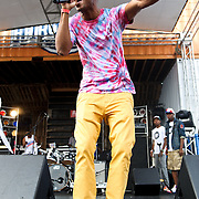 WASHINGTON, DC - August 11th, 2012 - Local rapper Tabi Bonney performs at the inaugural Trillectro Festival at the Half Street Fairgrounds in Washington, D.C. The festival was a combination of hip-hop and dance acts, bringing together fans of both genres.  (Photo by Kyle Gustafson/For The Washington Post)