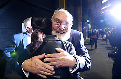 Senator David Norris at the count centre in Dublin's RDS as votes are counted in the referendum on the 8th Amendment of the Irish Constitution which prohibits abortions unless a mother's life is in danger. Picture date: Saturday May 26, 2018. See PA story IRISH Abortion. Photo credit should read: Brian Lawless/PA Wire
