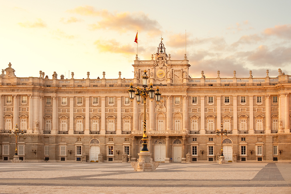 Palacio Real (Royal Palace) at Plaza de Oriente, in Madrid, Spain