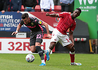 Leeds United's Jack Harrison gets away from Charlton Athletic's Jonathan Leko<br /> <br /> Photographer David Shipman/CameraSport<br /> <br /> The EFL Sky Bet Championship - Charlton Athletic v Leeds United - Saturday 28th September 2019 - The Valley - London<br /> <br /> World Copyright © 2019 CameraSport. All rights reserved. 43 Linden Ave. Countesthorpe. Leicester. England. LE8 5PG - Tel: +44 (0) 116 277 4147 - admin@camerasport.com - www.camerasport.com