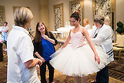 Attendees work on tutus during a Tutus That Dance seminar led by Suzanne Dieckmann at Suncost Hotel & Casino in Las Vegas, Nevada, on July 23, 2016. (Stan Olszewski/SOSKIphoto)