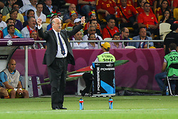 01.07.2012, Olympia Stadion, Kiew, UKR, UEFA EURO 2012, Spanien vs Italien, Finale, im Bild, TRENER VICENTE DEL BOSQUE (ESP) // during the UEFA Euro 2012 Final Match between Spain and Italy at the Olympic Stadium, Kiev, Ukraine on 2012/07/01. EXPA Pictures © 2012, PhotoCredit: EXPA/ Newspix/ Tomasz Jastrzebowski..***** ATTENTION - for AUT, SLO, CRO, SRB, SUI and SWE only *****