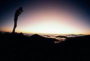 Photographer, Sunrise, Haleakala, Maui, Hawaii
