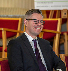 Pictured: Derek Mackay <br /> <br /> Finance Secretary Derek Mackay headed to Winchburgh today to meet developers of new 3,450-home village. As well as the new homes, schools and other associated infrastructure will be built at Winchburgh. Derek Mackay met Sir Tom Hunter and Local MSP, Fiona Hyslop, the developers and West Lothian Council officials.<br /> <br /> Ger Harley | EEm 17 January 2019