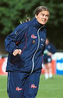 Ingrid Camilla Fosse Sæthre, Norge. Kvinnefotball: Norge - England 8-0, EM-kvalifisering, kvinnelandslaget 2000, 4. juni 2000. (Foto: Peter Tubaas/Fortuna Media AS)