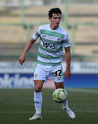 Yeovil Town's Liam Sheppard - Photo mandatory by-line: Harry Trump/JMP - Mobile: 07966 386802 - 07/03/15 - SPORT - Football - Sky Bet League One - Yeovil Town v Oldham Athletic - Huish Park, Yeovil, England.