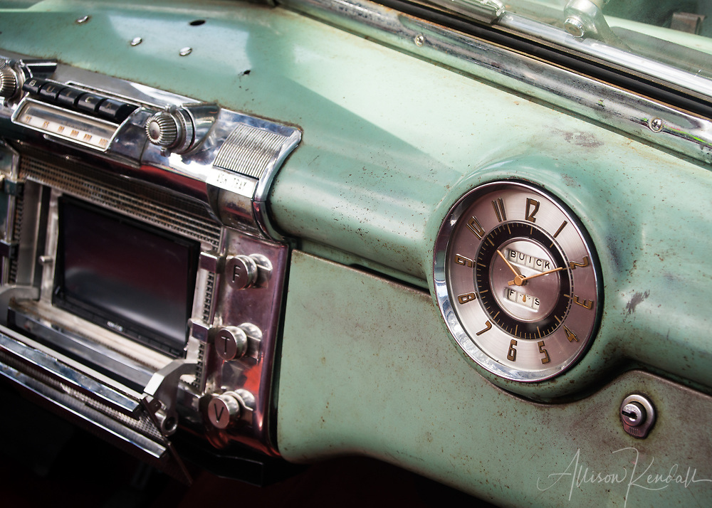 """Detail of a vintage Buick, seen at the Carmel-by-the-Sea Concours on the Avenue event during Monterey Car Week   Each 252-piece photo puzzle comes in a sturdy, finished cardboard box and measures 10"""" x 14"""" when complete"""