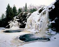 Pattison State Park, Wisconsin, December, 1986.