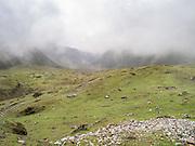 Along the Camino Salkantay (Salkantay Trail) in the Peruvian Andes.