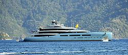 June 24, 2017 - MuÄŸLa, Türkiye - UK's fifth richest man, Tottenham Hotspur's owner Joe Lewis comes to mediterrenean coastal city Marmaris, Mugla, Turkey for a vacation. Spurs billionaire's superyacht Aviva is seen today at Marmaris. (Credit Image: © Depo Photos via ZUMA Wire)