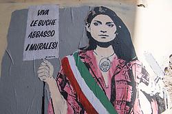 Murals depicting Virginia Raggi