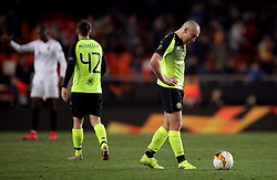 Celtic's Scott Brown appears dejected after the match