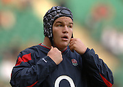2005 Rugby, Investec Challenge, England vs Australia, Matt Stevens   RFU Twickenham, ENGLAND:     12.11.2005   © Peter Spurrier/Intersport Images - email images@intersport-images..