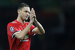 12th September 2017 - UEFA Champions League - Group A - Manchester United v FC Basel - Nemanja Matic of Man Utd applauds the support - Photo: Simon Stacpoole / Offside.