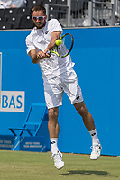 Tennis - 2017 Aegon Championships [Queen's Club Championship] - Day Three, Wednesday<br /> <br /> Men's Singles, Round of 16 -Viktor TROICKI (SRB) Vs Donald YOUNG (USA)<br /> <br /> Viktor Troicki (SRB) returns serve on centre court at Queens Club<br /> <br /> <br /> <br /> COLORSPORT/DANIEL BEARHAM