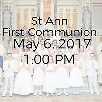 St Ann 2017 First Communion