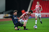 Middlesbrough's Patrick Roberts is fouled by Stoke City's Morgan Fox<br /> <br /> Photographer Alex Dodd/CameraSport<br /> <br /> The EFL Sky Bet Championship - Stoke City v Middlesbrough - Saturday 5th December 2020 - bet365 Stadium - Stoke-on-Trent<br /> <br /> World Copyright © 2020 CameraSport. All rights reserved. 43 Linden Ave. Countesthorpe. Leicester. England. LE8 5PG - Tel: +44 (0) 116 277 4147 - admin@camerasport.com - www.camerasport.com