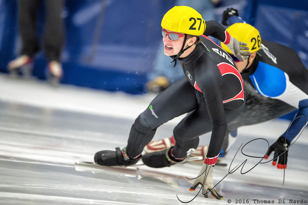 March 18, 2016 - Verona, WI - Michael Koenig, skater number 271 competes in US Speedskating Short Track Age Group Nationals and AmCup Final held at the Verona Ice Arena.