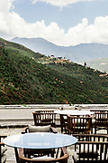 View of Eutok Samdrup Choeling Monastery from outdoor terrace