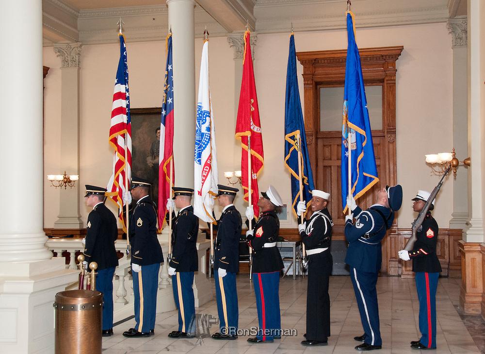 Vietnam Veterans Day in Georgia - A tribute to Georgia Vietnam Medal of Honor Recipients, Atlanta, Georgia - oint Honor Guard, Georgia Department of Defense.