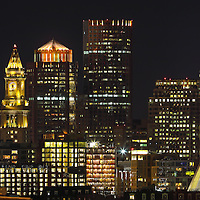 Downtown Boston panorama skyline photography images showing landmarks such as Vertex Pharmaceuticals, Converse headquarters, Custom House of Boston, Zakim Bridge, One International Place, TD Bank North Garden, Vertex Pharmaceutical, Convers Headquarter photographed on a stunning night shortly after sunset. This Boston panorama skyline photo image is available as museum quality photography prints, canvas prints, acrylic prints, wood prints or metal prints. Wall art prints may be framed and matted to the individual liking and decor needs: <br /> <br /> http://juergen-roth.pixels.com/featured/downtown-boston-juergen-roth.html<br /> <br /> All Boston photos are available for digital and photo image licensing at www.RothGalleries.com. Please contact me direct with any questions or request.<br /> <br /> Good light and happy photo making!<br /> <br /> My best,<br /> <br /> Juergen<br /> Prints: http://www.rothgalleries.com<br /> Photo Blog: http://whereintheworldisjuergen.blogspot.com<br /> Twitter: @NatureFineArt<br /> Instagram: https://www.instagram.com/rothgalleries<br /> Facebook: https://www.facebook.com/naturefineart