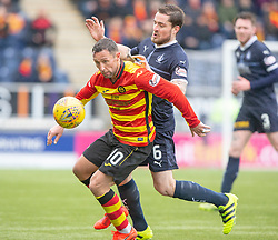 Partick Thistle's Scott McDonald and Falkirk's Paul Paton. Falkirk 1 v 1 Partick Thistle, Scottish Championship game played 16/3/2019 at The Falkirk Stadium.