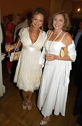 Left to right, COUNTESS MAYA VON SCHONBURG and DORIT MOUSSAIEFF wife of the President of Iceland at a party to celebrate the publication of 'A History of The English Speaking Peoples Since 1900' hosted by Andrew Roberts and Susan Gilchrist at the English-Speaking Union, 37 Charles Street, London W1 on 11th September 2006.<br /><br />NON EXCLUSIVE - WORLD RIGHTS