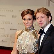 NLD/Amsterdam/20111121 - Premiere Nova Zembla 3D, prins Floris en partner prinses Aimee Sohngen