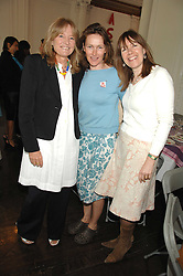 Left to right, PRISCILLA HIGHAM, RHONA MACMILLAN and CHRISTABEL HOLLAND at a lunch in aid of African Solutions To African Problems held at Il Bottaccio, 9 Grosvenor Place, London on 20th May 2008.<br />