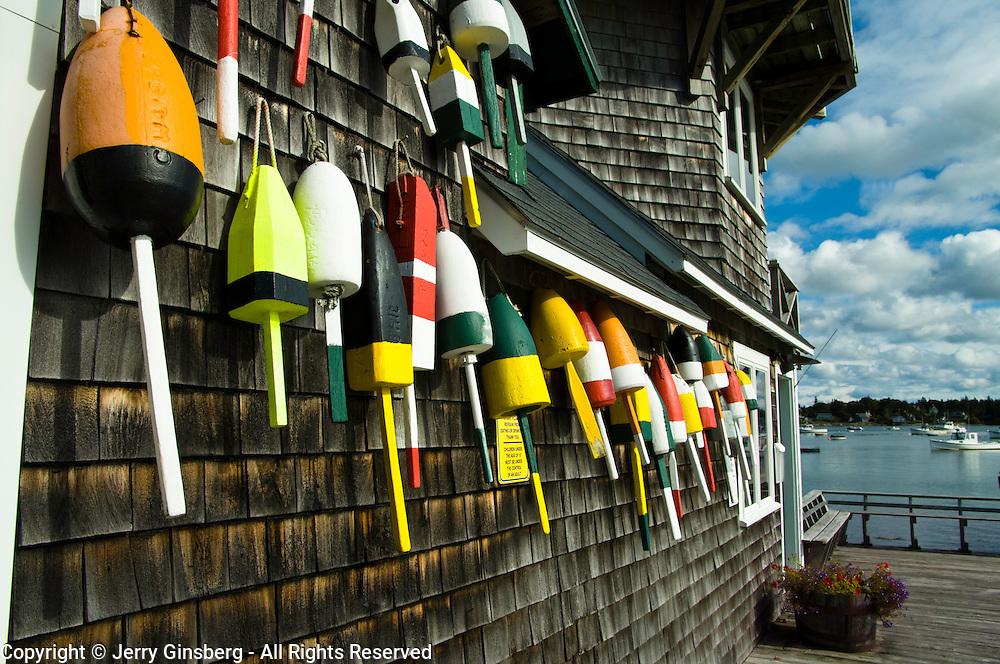 Lobster buoys in Barnard Maine.