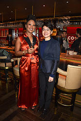 28 January 2020 - Sara Collins - Costa First Novel Award Winner and Mary Jean Chan - Costa Poetry Award Winner at the Costa Book Awards 2019 held at Quaglino's, 16 Bury Street, London.<br /> <br /> Photo by Dominic O'Neill/Desmond O'Neill Features Ltd.  +44(0)1306 731608  www.donfeatures.com