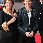 NLD/Amsterdam/20080201 - Verjaardagsfeest Koninging Beatrix en prinses Margriet, Gerda Verburg en partner Willy Westerlaken