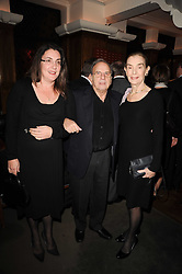 Left to right, DEBORAH HARWOOD and SIR RONALD & LADY HARWOOD at 'Heavenly Ivy' a play to commemorate 20 years of The Ivy Restaurant, held at The Ivy, West Street, London on 8th November 2010.