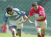 24/05/2002<br /> Sport - Rugby Union<br /> IRB World Sevens Series - Twickenham<br /> Wales v Argentina<br />  Craig Richards, on the break.<br />    [Mandatory Credit, Peter Spurier/ Intersport Images]<br />    [Mandatory Credit, Peter Spurier/ Intersport Images]