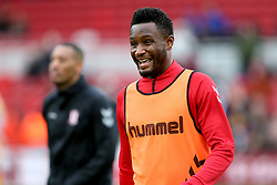 Middlesbrough's John Obi Mikel warming up before the FA Cup fourth round match at Riverside Stadium, Middlesbrough.