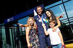 Benjamin Savsek, Olympic gold medalist with family during his arrival from Tokyo 2020 on July 28, 2021 in Airport Joze Pucnik, Brnik, Ljubljana, Slovenia. Photo by Matic Klansek Velej / Sportida