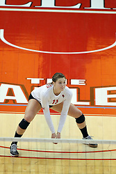17 October 2014:  Ashley Rosch during an NCAA Missouri Valley Conference (MVC) womens volleyball match between the Northern Iowa Panthers and the Illinois State Redbirds for 1st place in the conference at Redbird Arena in Normal IL
